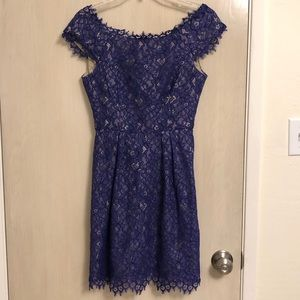 Blue Lace Shoshanna Dress